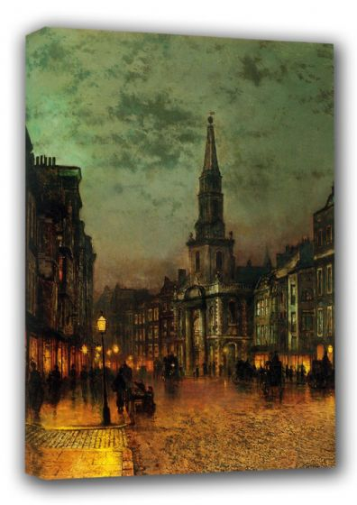 Grimshaw, John Atkinson: Blackman Street, London. Victorian Scene, Fine Art Canvas. Sizes: A3/A2/A1 (00481)